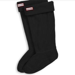 Women's Hunter Tall Black Fleece Boot Socks Sz L